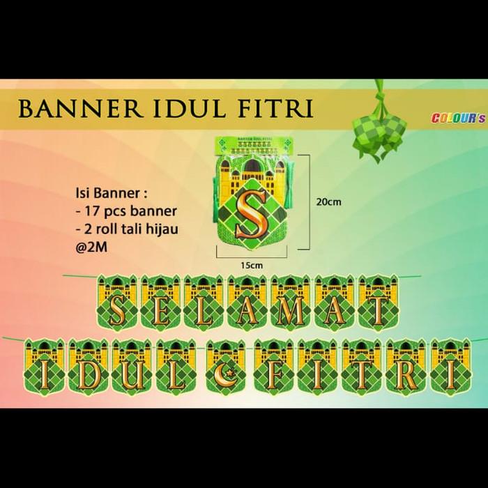 Jual Banner Selamat Idul Fitri Banner Ucapan Idul Fitri Banner
