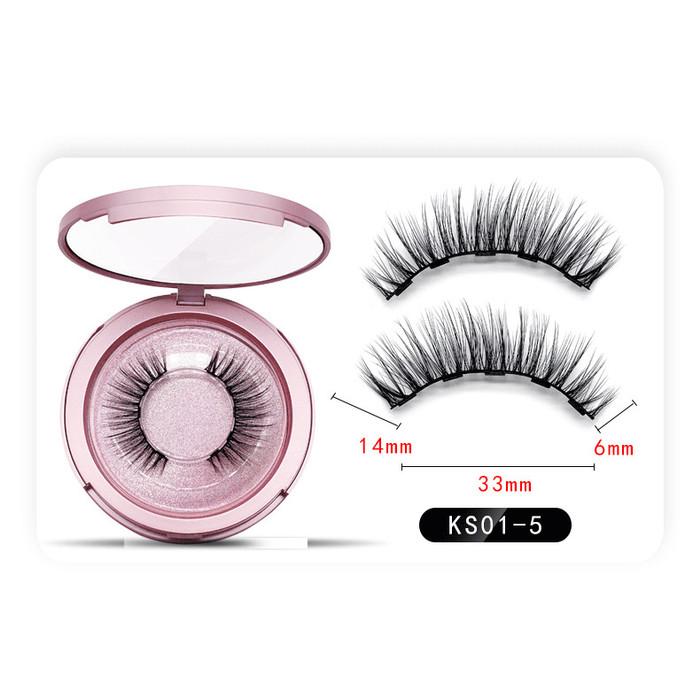 Foto Produk 3D False Double Magnetic Eyelashes / Bulu Mata Palsu Magnet dari toko distributor hoki