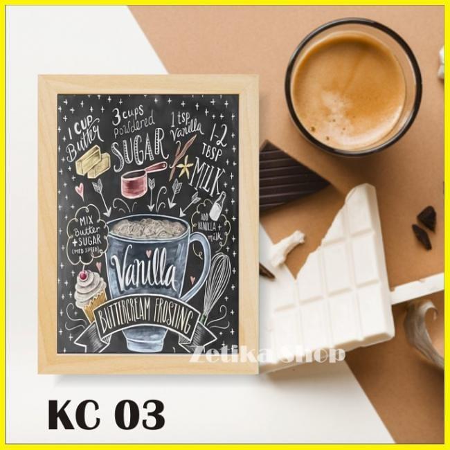 Jual Poster Kayu Cafe Bingkai Frame Kayu Art Wall Decor Home Decoration Vin Jakarta Selatan Tricworks Tokopedia