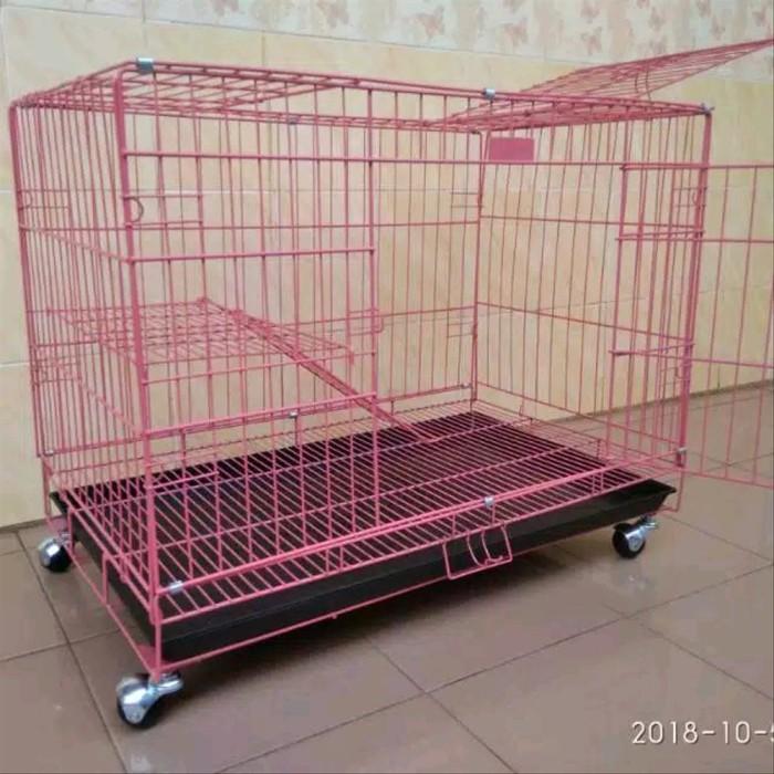 Foto Produk sangkar kandang kucing kelinci anjing jumbo pakai roda dari wawastore20