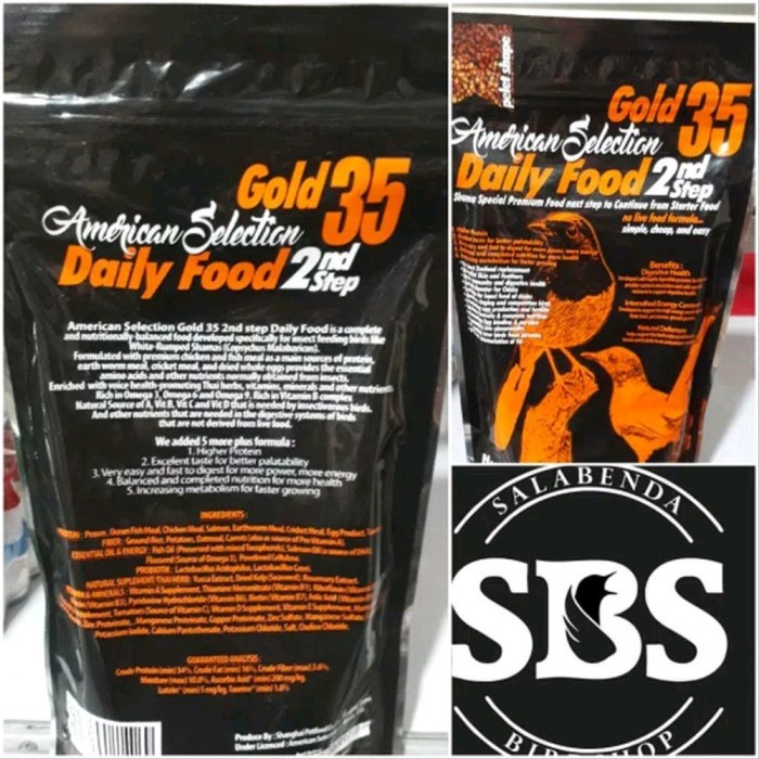 Foto Produk voer ams american selection gold 35 2nd step 250 gr kasat murai dari jumikstore2020