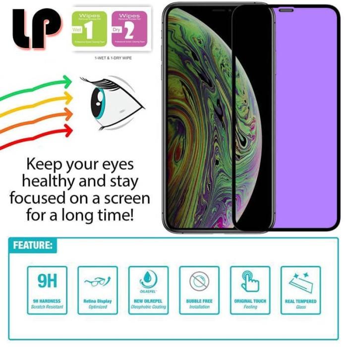 Foto Produk LP Full Anti-Blue Light Tempered Glass iPhone 11 Pro - X XS - Kaca Ori dari Logay Accessories