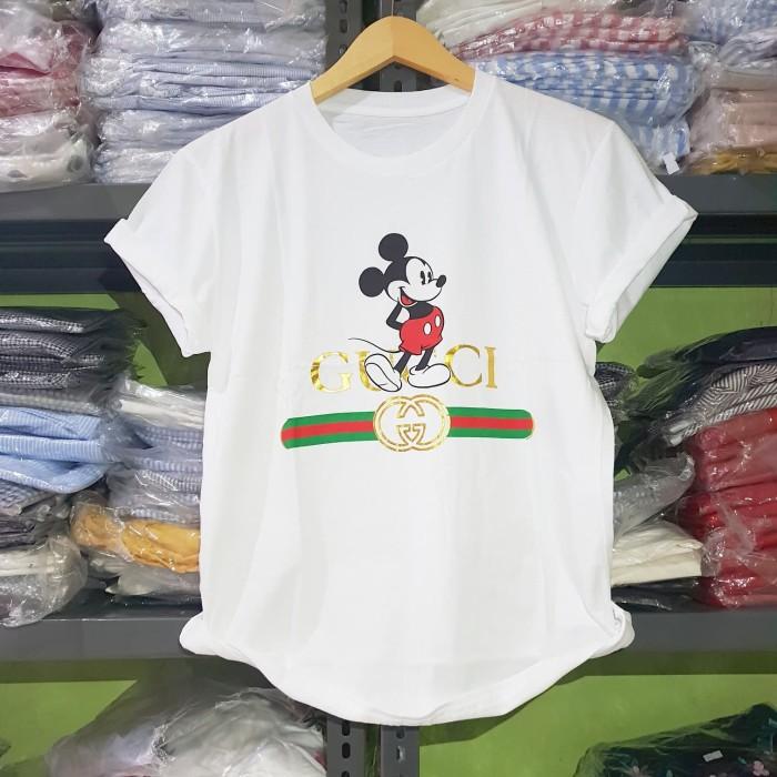 Foto Produk KODE : XL.026 Gucc! Mickey Tshirt (XL) - Putih dari fashion_tnabang