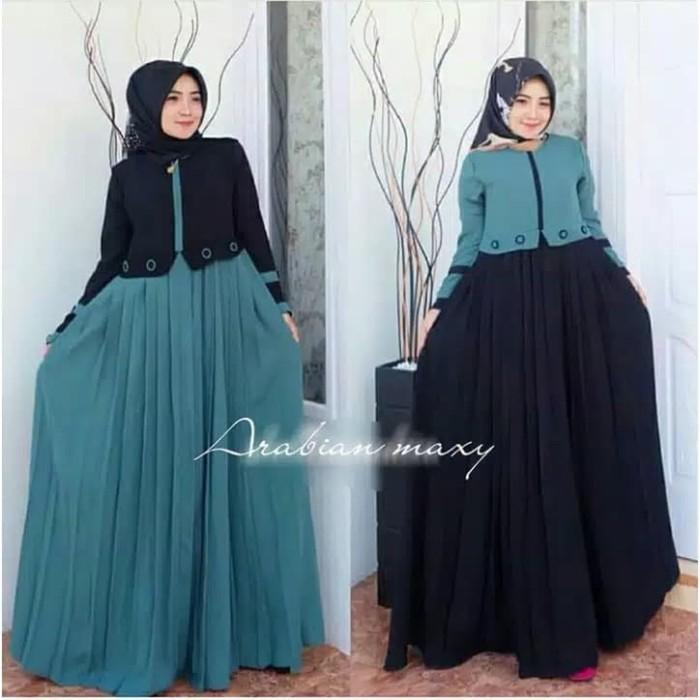 Jual Baju Gamis Wanita Busana Muslim Wanita Arabian Maxy Dress Tosca Kota Bandung Ferishop01 Tokopedia