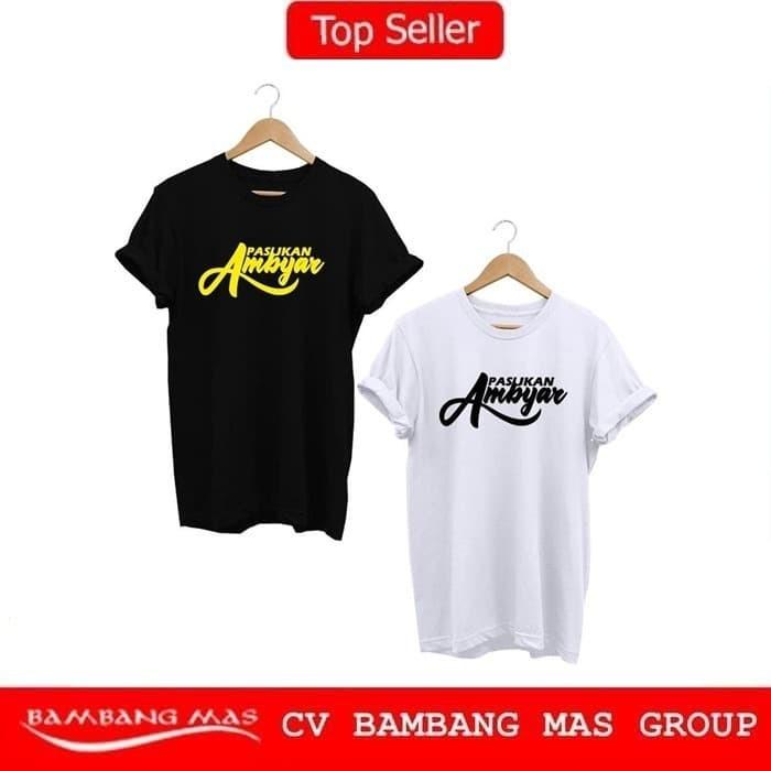 Jual Kaos Baju T Shirt Distro Pasukan Ambyar Premium Hitam S
