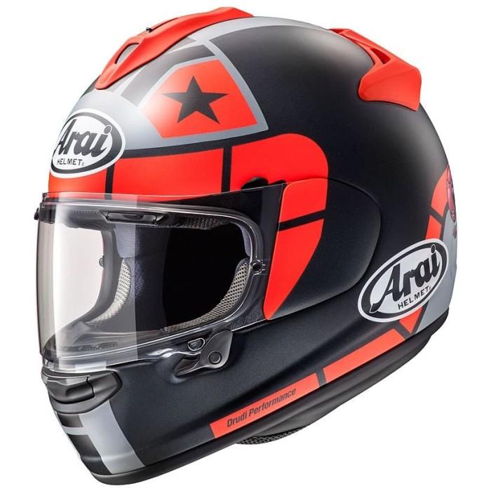 Foto Produk Arai SNI Vector X Maverick GP Helm Full Face - Black Red - L dari Arai Indonesia
