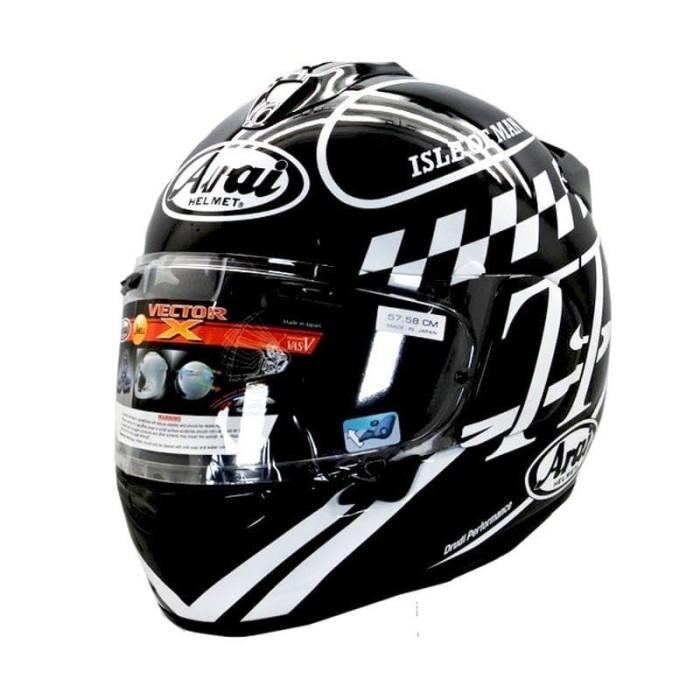 Foto Produk Arai SNI Vector X Classic TT Helm Full Face - Graphic Black - M dari Arai Indonesia