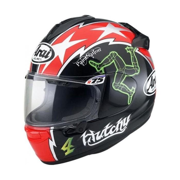 Foto Produk Arai SNI Vector X Hutchinson TT Helm Full Face - Graphic Black Red - M dari Arai Indonesia