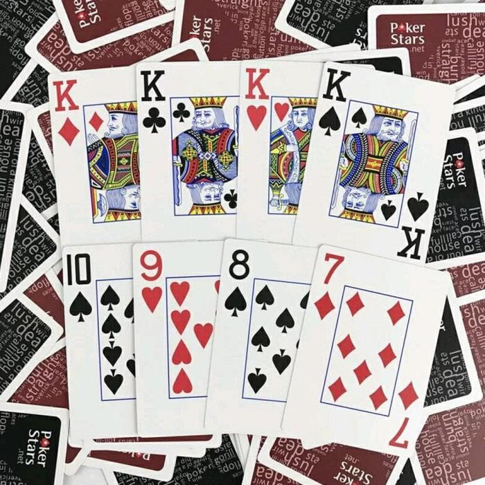 Jual Kartu Remi Poker Plastik Waterproof Poker Stars Plastic Playing Jakarta Selatan Hikari Kayoa Tokopedia