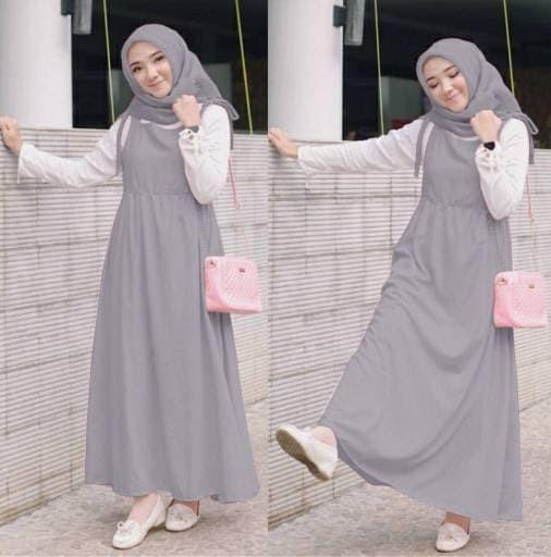 Jual Wanita Set Kanda Abu 3in1 Setelan Baju Muslim Remaja Busana Muslim Jakarta Utara Pancazulkarnain Tokopedia