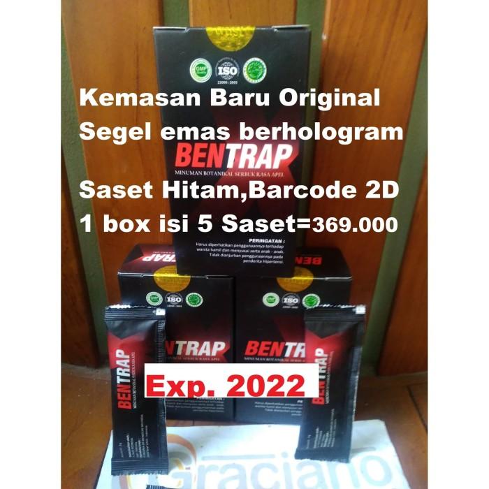 Foto Produk Bentrap Baru Original Asli Segel Emas Berhologram Saset Hitam Barcode dari Graciano Distribusindo