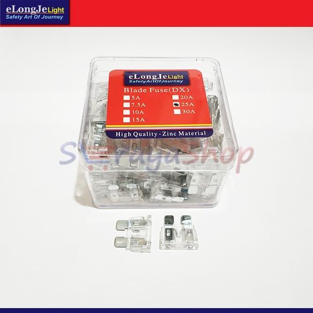 Foto Produk Fuse Sekring DX Tancap 25A (Putih) ElongJe dari Seraya Shop