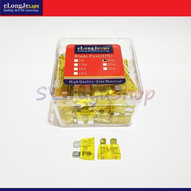Foto Produk Fuse Sekring DX Tancap 20A (Kuning) ElongJe dari Seraya Shop