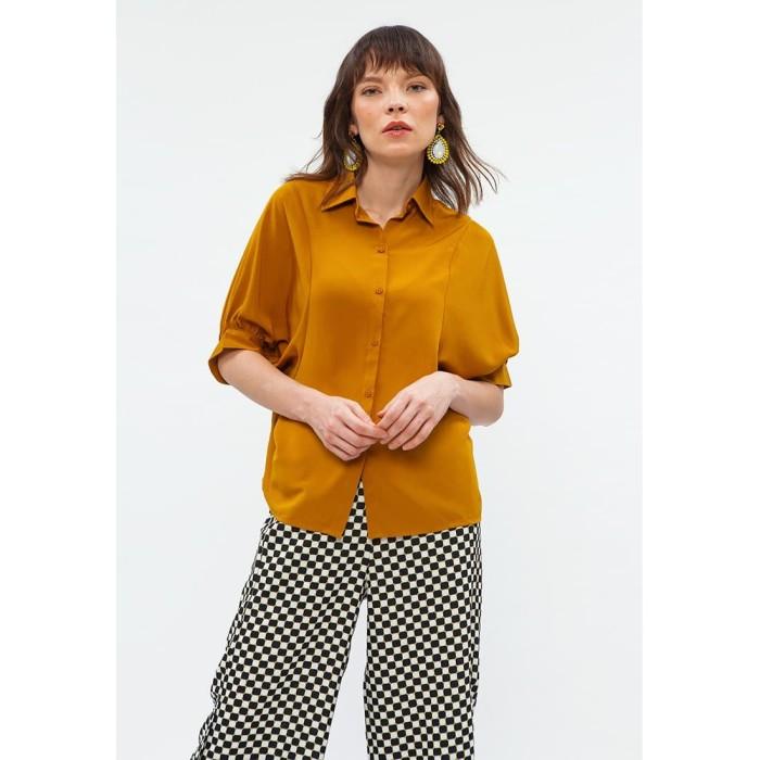 Foto Produk Minimal Baloon Slv Shirt Mustard - M dari minimal