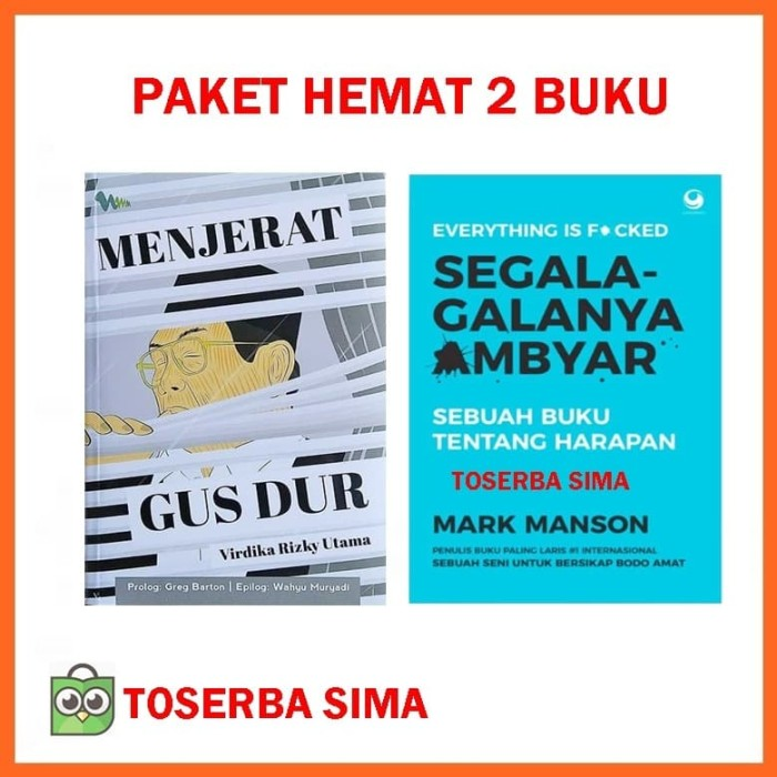 Jual Paket Buku Menjerat Gus Dur Gusdur Segala Galanya Ambyar Mark
