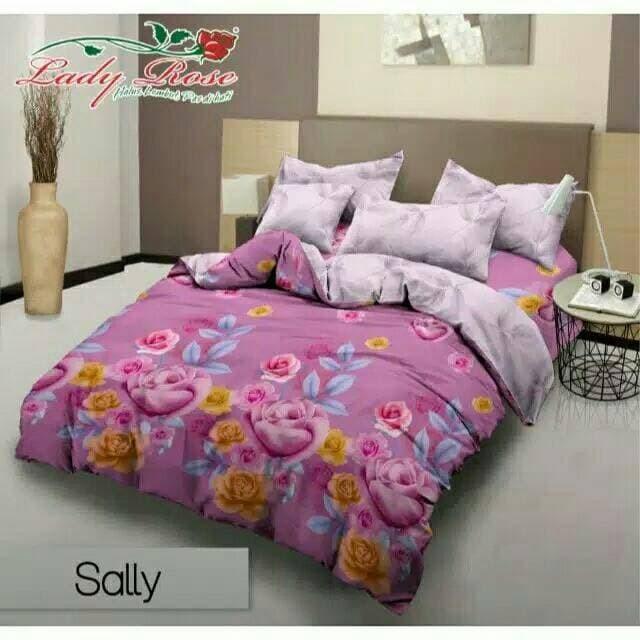 Jual Bed Cover Sprei Lady Rose Terbaru Sally 180x200 Original Premium Or Kota Bandung Asrimss Tokopedia