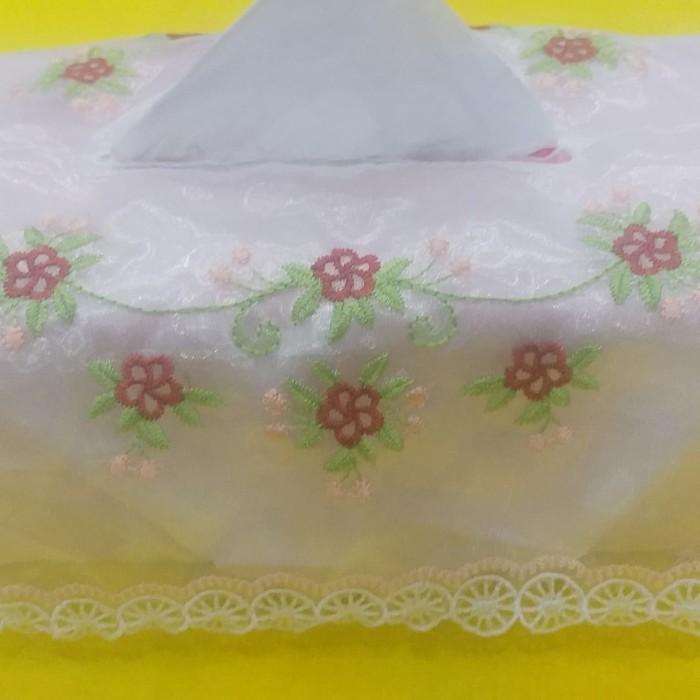 Foto Produk Tempat Tisu Bordir 1 - Merah Muda dari Bordir Sri Rejeki