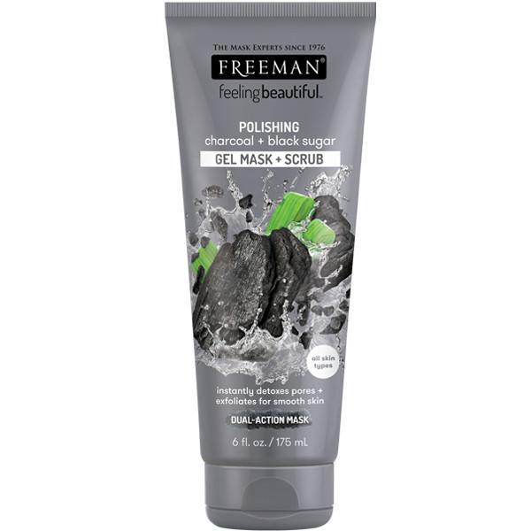 Foto Produk Freeman Polishing Charcoal & Black Sugar Gel Mask & Scrub 175ml dari Freeman Official Store