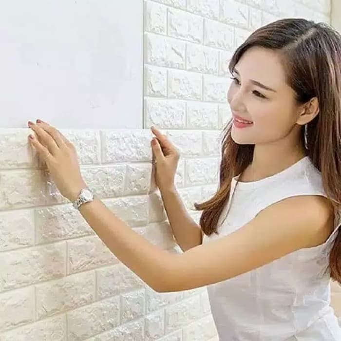Jual Sticker Wallpaper Dinding 3D Tempel Dekorasi
