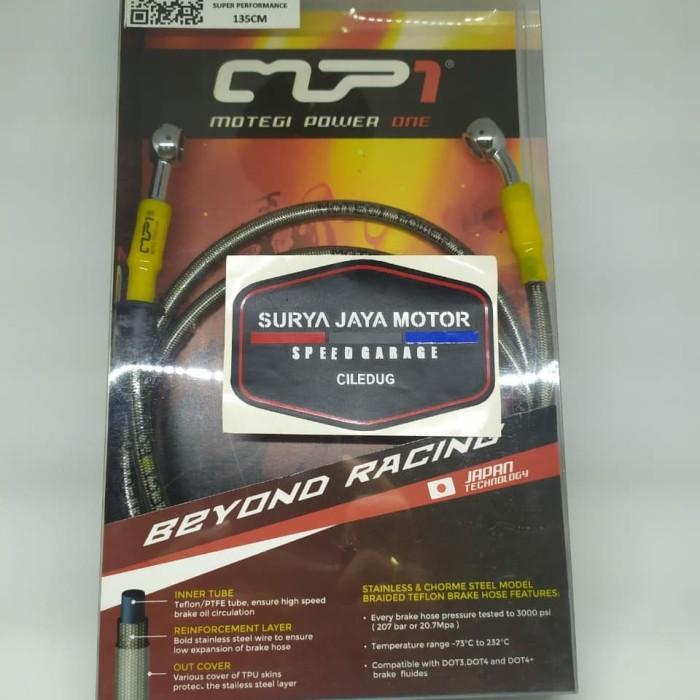 Foto Produk Selang Rem MP1 135cm Racing Brake Line Super Race - Biru dari Kebayoran Jaya