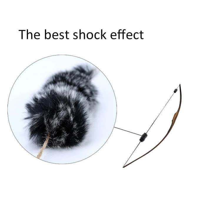 Foto Produk Peredam String Panah / Silencer String Bow Bulu Kelinci dari Sukabumi Archery