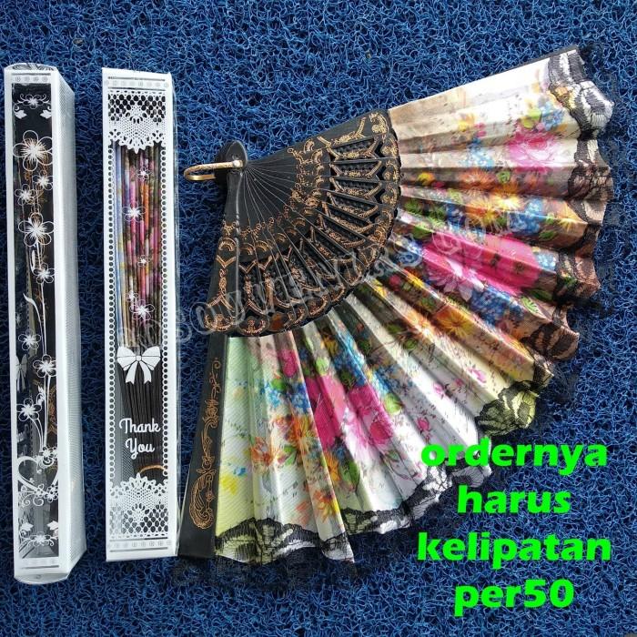 Foto Produk Souvenir Pernikahan | Kipas Spanyol hitam dikemas MIKA dari Souvenirsaripul.sabilah