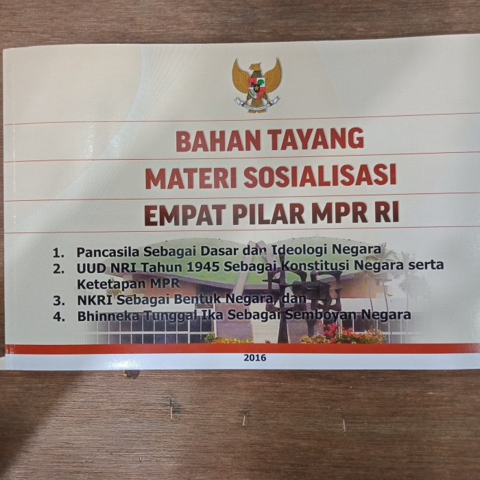 Foto Produk Bahan Tayang Materi Sosialisasi Empat Pilar MPR RI dari buku murah malang