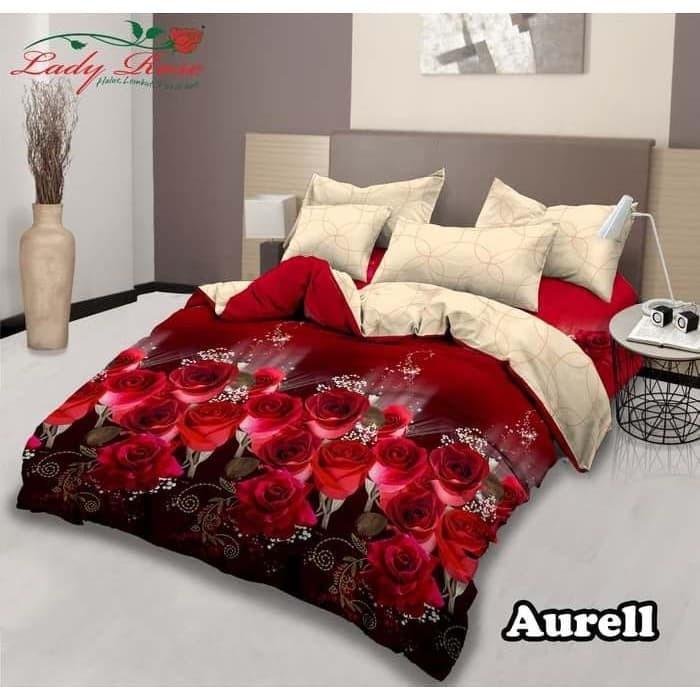 Jual Bed Cover Dan Sprei Lady Rose Terbaru Aurell180x200 Original Premium Kota Bandung Asrimss Tokopedia