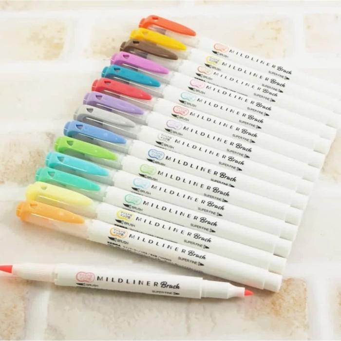 Foto Produk ZEBRA Mildliner BRUSH Pen Marker WFT8 - Double Ended Highlighte dari Soleram Style