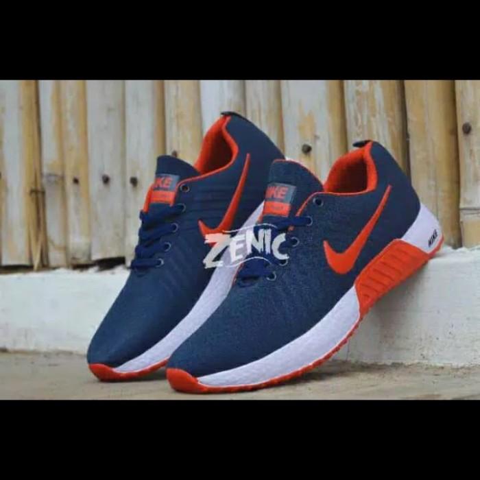 Foto Produk Sepatu Olahraga Pria Lari Senam Sport Sneakers Kasual Santai Jalan Cas - Navy Lis Merah, 39 dari Killafashion22
