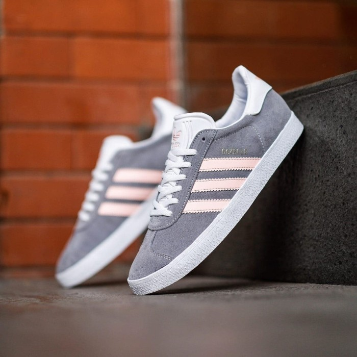 Foto Produk ADIDAS GAZELLE GREY PEACH ORIGINAL - Abu-abu, 37 dari SNEAKERS HUNTER