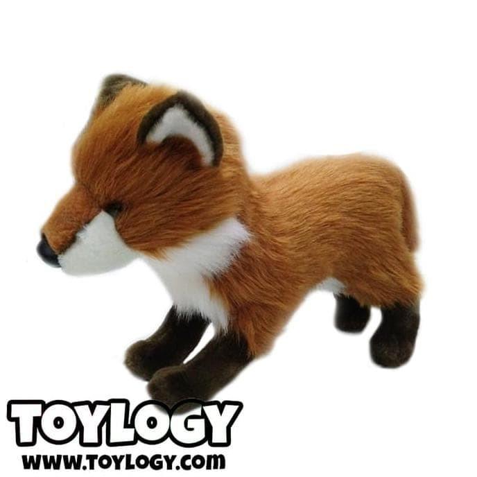 Foto Produk Boneka Hewan Rubah Merah ( Standing Red Fox Stuffed Plush Animal Doll dari toko donok shop