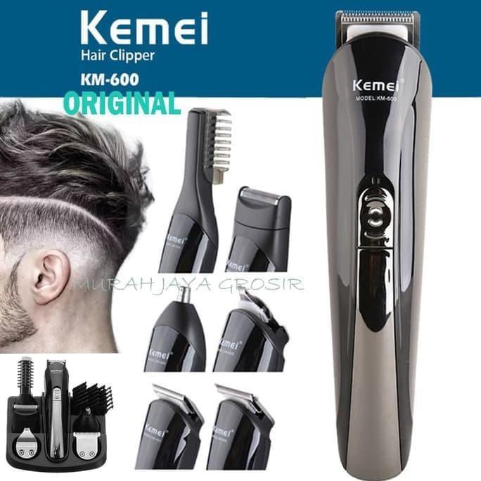 Foto Produk Original Kemei KM-600 Alat cukur rambut 6 IN 1 and shaver komplit dari Shodiqun store