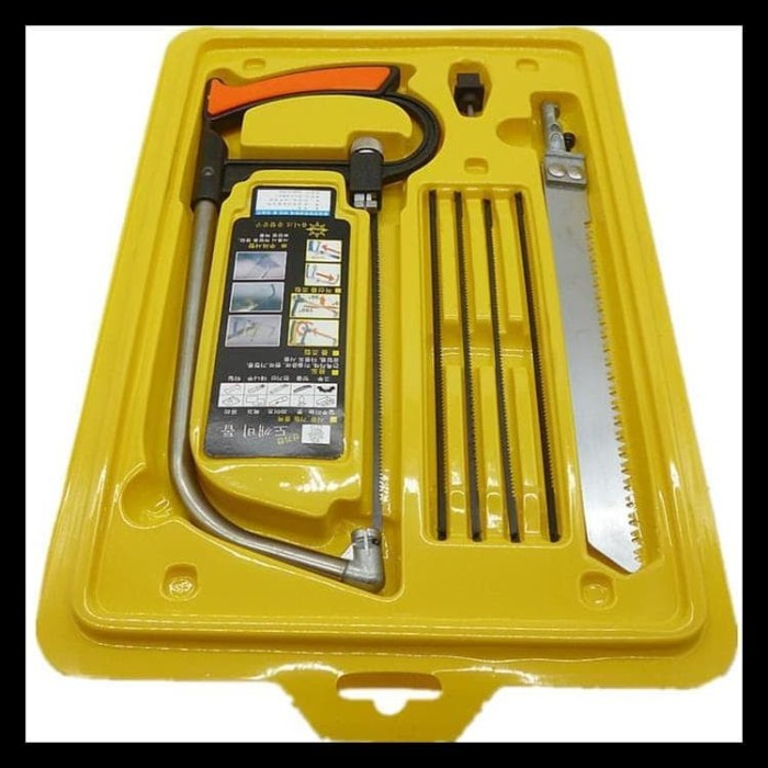 Foto Produk KODE 830 GERGAJI MULTIFUNGSI SET 3 WAY BLADE MAGIC SAW GERGAJI KAYU dari Netelin-Laris