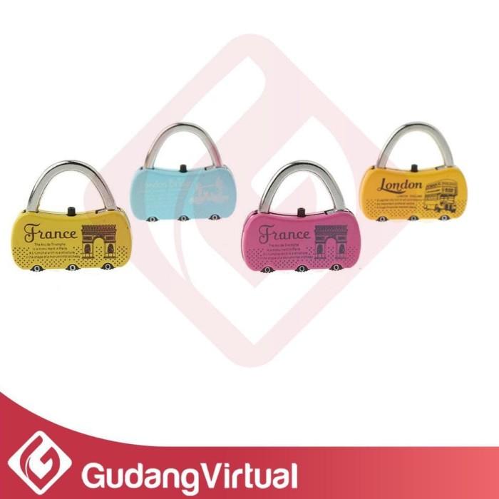 Foto Produk Gembok Model PARIS Kode Koper Tas Travelbag Padlock Code dari ratustores11