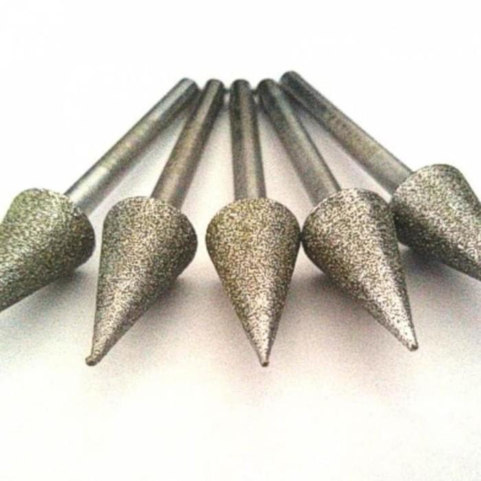 Foto Produk Mata Die Grinder Diamond Kerucut Lancip 8x15 Gerinda Mini Tuner dari Dzakiya-olstore