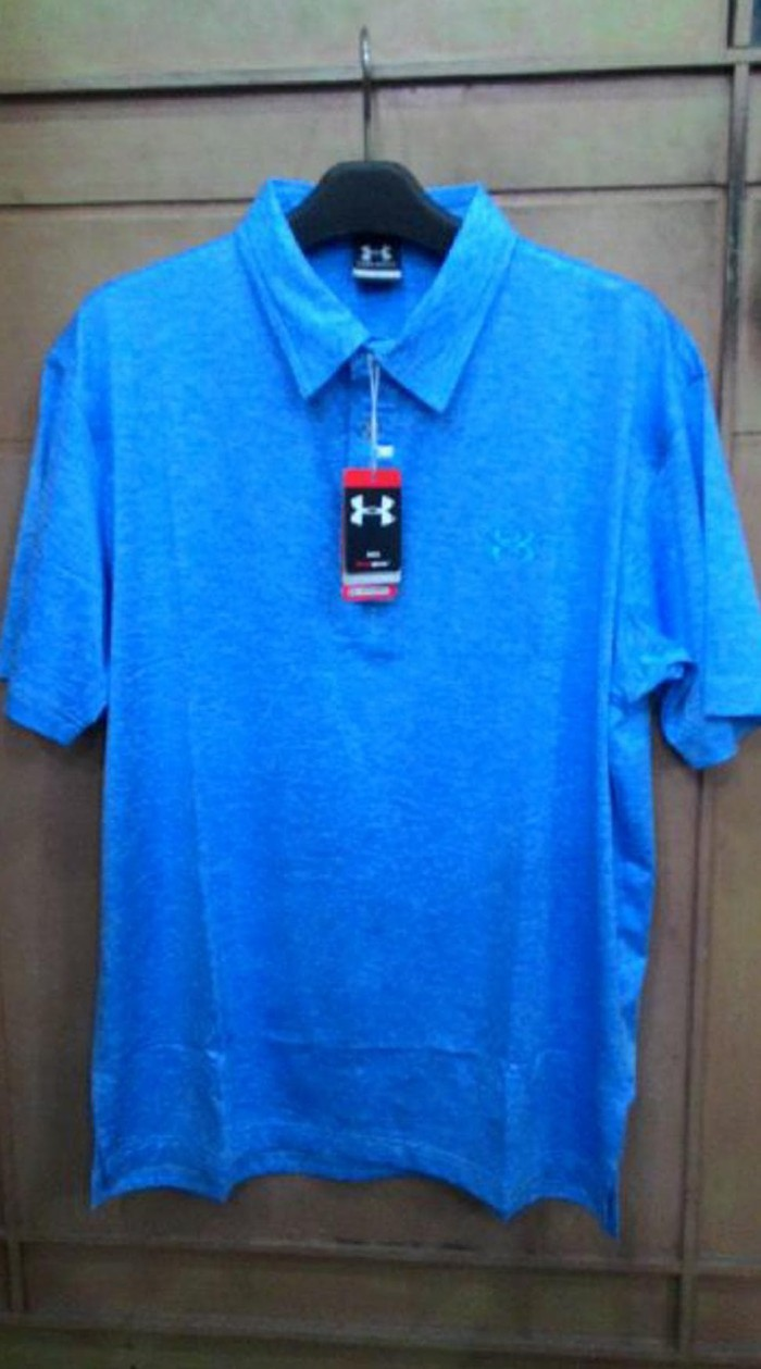 Foto Produk Polo Shirt Golf Under Armour Light Blue dari Kame Glory