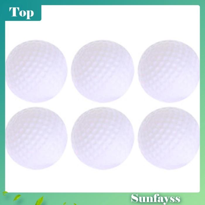 Foto Produk 6Pcs Bola Golf Berongga Bahan Plastik Warna Putih untuk Latihan dari Ravamo Store