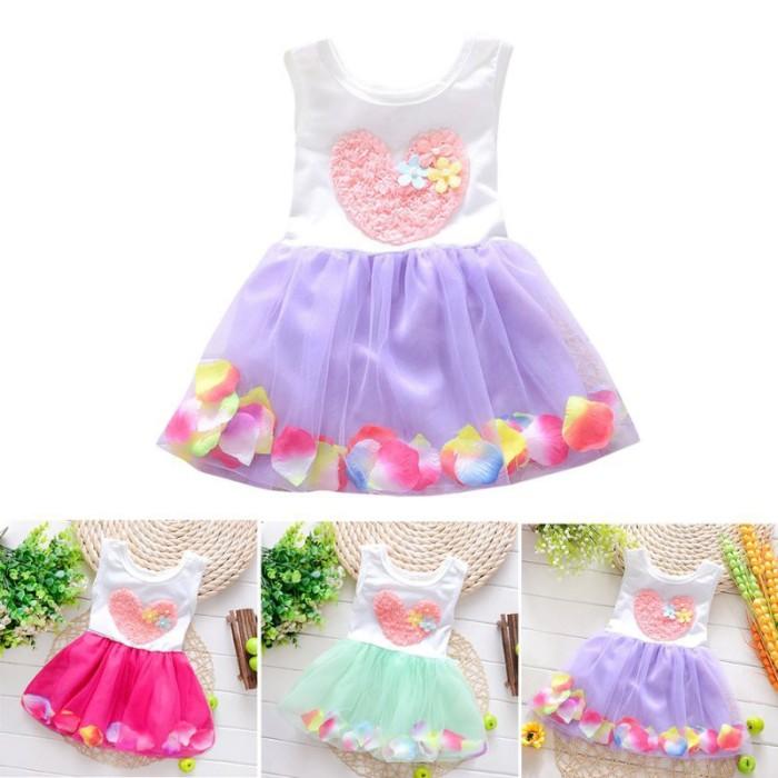Foto Produk Kids Girls Dress Princess Party Flower Tutu Dress dari queenstore-33