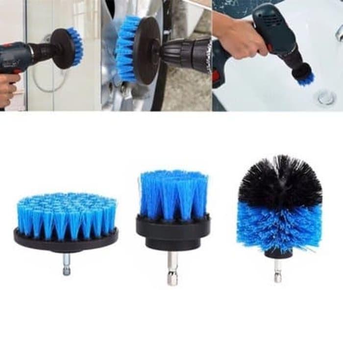 Foto Produk Set 3pcs Mata Sikat Untuk Mesin Bor 3pcs Power Scrubbers Brush dari Pancar Teknik