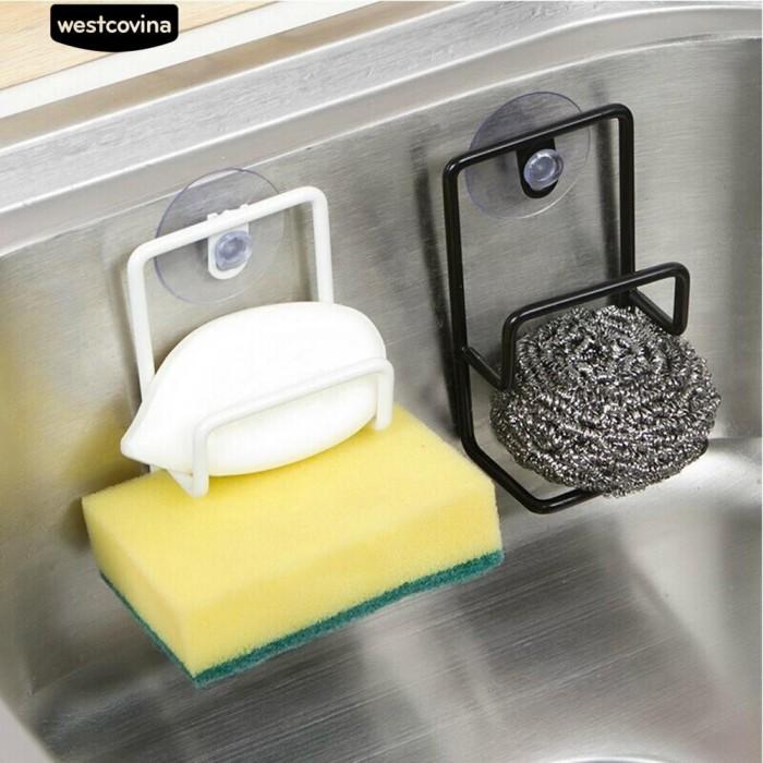 Foto Produk [Bayar di Tempat]Kamar mandi Spons Dishcloth Storage Rack Sink Shelf dari Sinarmas17