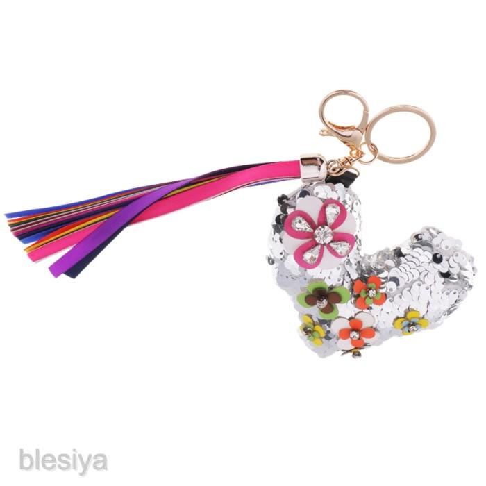 Foto Produk Fashion Crystal Bling Paillette Pendant Handbag Keyring Key Chain dari Ravamo Store