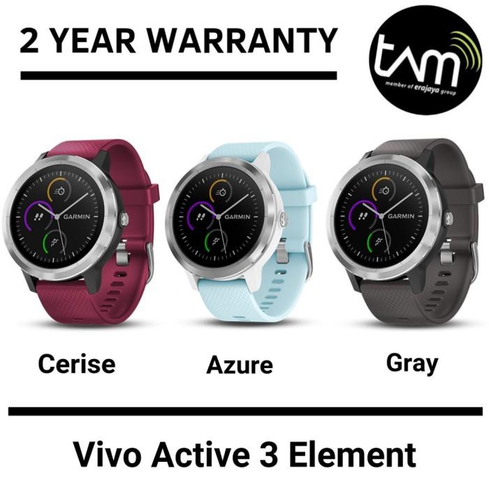 Foto Produk SH9615 Garmin Vivoactive 3 Element Smartwatch Bergaransi TAM 2 Thn dari Harisa Corner