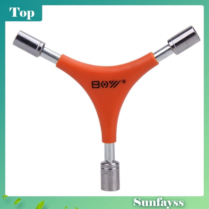 Foto Produk [sun] Bicycle Bike 3Way Y Handle Hex Soet Wrench Trigeminal Repair dari Ravamo Store