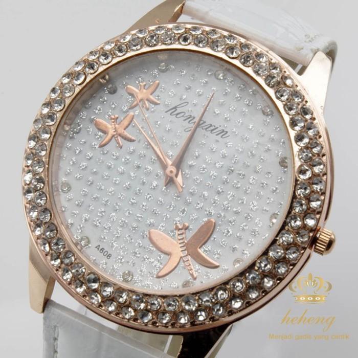Foto Produk Jam Tangan Quartz Analog Motif Kupu-Kupu Aksen Berlian Imitasi Warna dari Riski shoppe