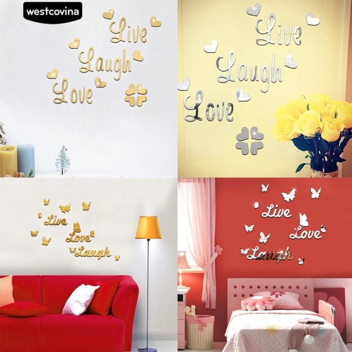 """Foto Produk Stiker Dinding dengan Bahan Mudah Dilepas dan Gambar Tulisan """"Live dari Sinarmas17"""