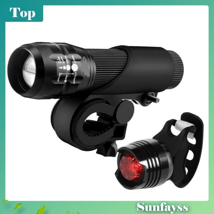 Foto Produk Lampu LED Depan + Belakang Sepeda Untuk Keamanan dari Ravamo Store