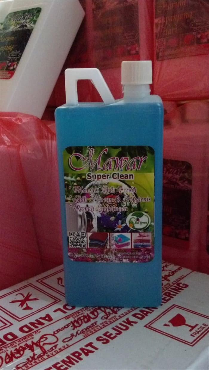 Foto Produk MAWAR SUPER CLEAN detergent cair 1ltr Khusus Gosend dari wijayajap15 Store