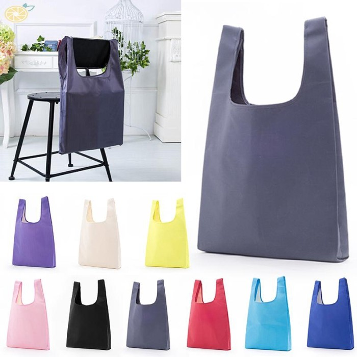 Foto Produk Shopping Bag Capacity Handbag Oxford 33x55cm Folding dari Ravamo Store