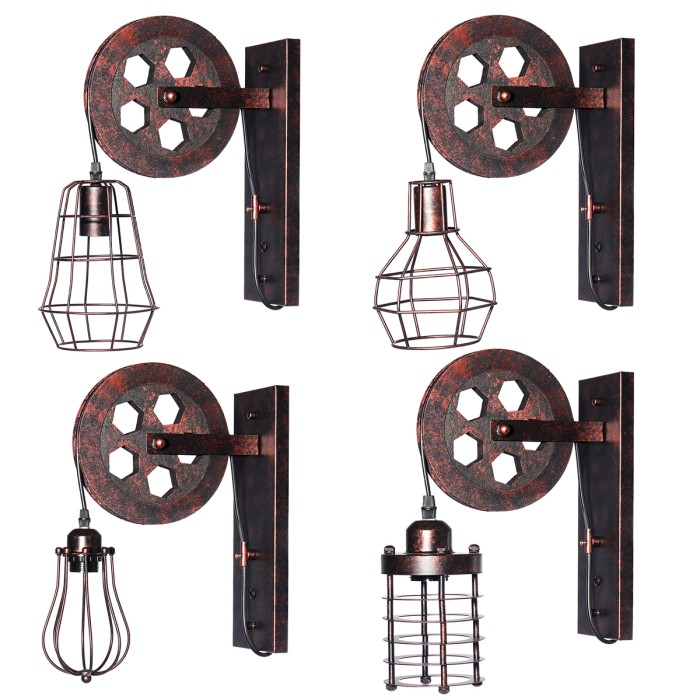 Jual Terlaris E27 Vintage Industrial Wall Lamp Pulley Light Indoor Jakarta Barat Starstore 9 Tokopedia